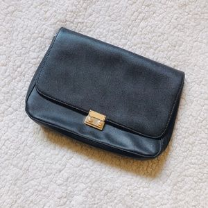 NWOT Black + Gold Clutch Bag